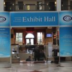 Exhibit hall entrance sign